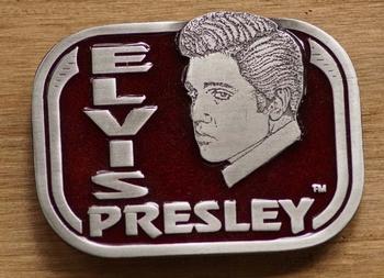 """Elvis buckle  """" Elvis Presley """" Rot"""