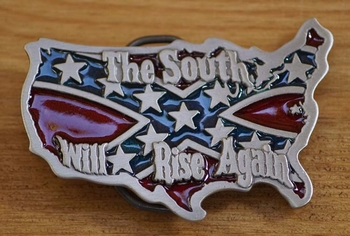 """Belt buckle  """" The south will rise again """""""