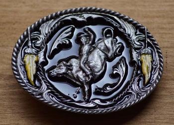 """Gürtelschnalle  """" Bull riding """""""