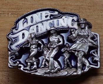 "Country Gürtelschnalle  "" Line dancing """