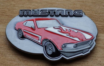 "Collection item Belt buckle "" Mustang """