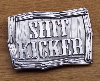 """Austauschbare Schnalle """" Shit kicker """""""