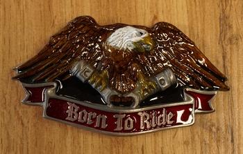 "Gürtelschnalle  "" Born to ride ""  Adler  AUSVERKAUFT"