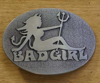 """Gürtelschnalle  """" Bad girl """""""