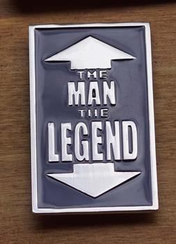 "Gürtelschnalle  "" The man,   The legend """