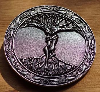 """Gürtelschnalle  """" Baum des Lebens """"   Metall"""