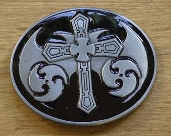 """Gürtelschnalle """" Keltisch Schild mit Christlicher Kreuz """""""