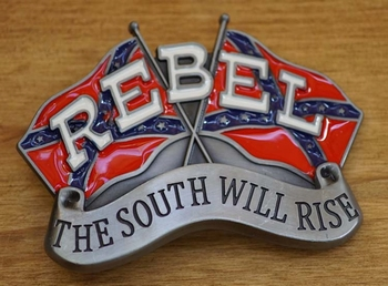 """Belt buckle  """" Rebel  The south will rise """""""