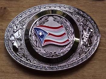 """Gürtelschnalle  """" Flag Puerto Rico """""""