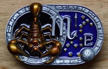 """Gürtelschnalle  """" Sternzeichen Skorpion """""""