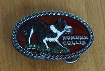 """Gürtelschnalle  """" Border collie """""""