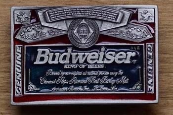 """Belt buckle  """" Budweiser king of beer """""""