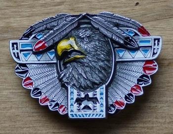 """Buckle """" Totum Adler, Rot - Schwarze Motive für Weisheit """""""