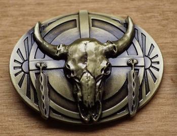 "Gürtelschnalle  "" Skull "" Bronzefarben"