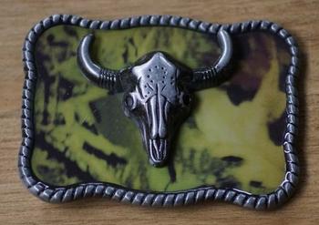 "Buckle "" Bull Skull "" Camouflage"