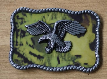 "Ornamentale Schnalle  ""Fliegender Adler  "" Combat background"