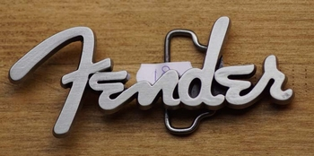 "Music band buckle  "" Fender """