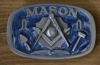 """Gürtelschnalle   """" Mason """"  ( Freimaurer )"""