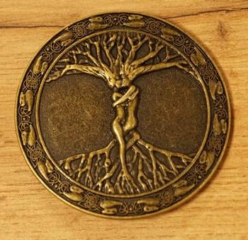 """Lose Schnalle  """" Baum des Lebens """"   Bronzefarben"""