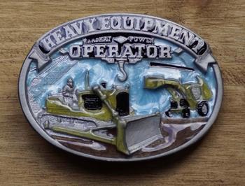 "Decorative buckle  "" Heavy Equipment operator """