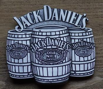 "Belt buckle   "" Jack Daniel's  ""  3 Whiskyfässer"