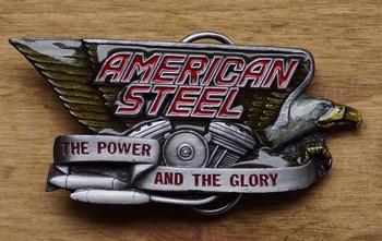 "Buckle "" American steel  ""  The power and  AUSVERKAUFT"