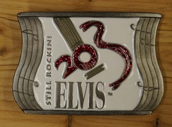 "Decorative buckle  "" Elvis ""  Still Rockini    Weiss"