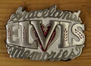 "Schnalle  ""  Graceland Elvis memories ""   Weiss"