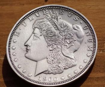 """Buckle  """" Halber Dollar Münze aus 1900 """""""
