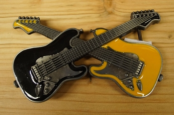 "Buckle  "" 2 Gitarre ""  Schwarz / gelb"