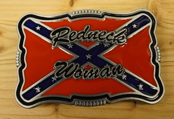 "Buckle  "" Redneck woman "" Rebellenflagge"