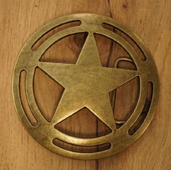 """Dekorative Schnalle  """" Sheriff Stern """""""