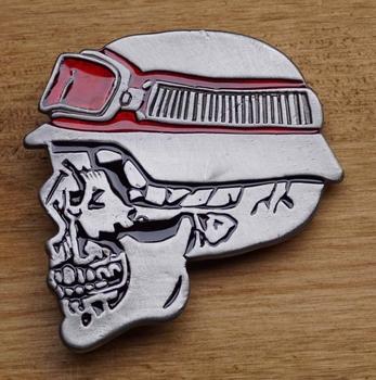 """Schliessen Schnalle  """" Skeleton Kopf des Motorradfahrers """""""