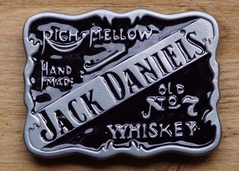 "Jack Daniels Schnalle "" Righ mellow, hand made, Old no 7 """
