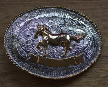 "Belt buckle  "" Pferd "" Silber / Gold farbig"
