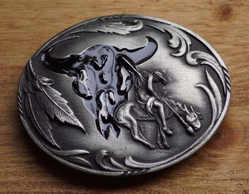 "Belt buckle  "" Stierkopf / End of the trail """