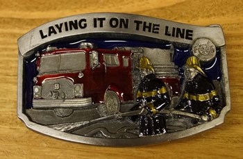 "Belt buckle "" Laying it on the line "" Feuerwehrmann"