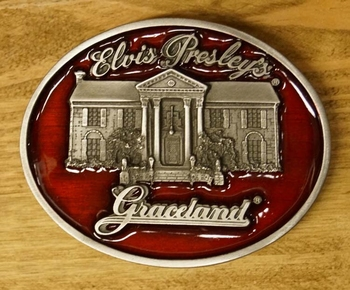 "Belt buckle   "" Elvis Presley's Graceland """