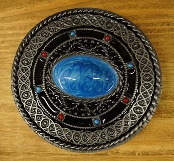 """Buckle  """" Keltisches Zeichen mit blauem Stein """""""