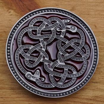 """Belt buckle  """" Celtic snake """""""