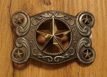"Buckle  "" Texas star ""   AUSVERKAUFT"