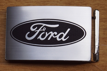"""Automarke Schnalle  """"  Ford """"   Silber farbe"""