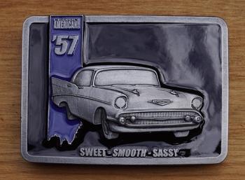 """Schließen Schnalle  """" American '57, Sweet, smooth, sassy """""""