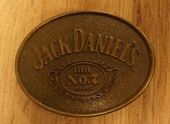 "Belt Buckle  "" Jack Daniels  ""   Kupferfarben  AUSVERKAUFT"
