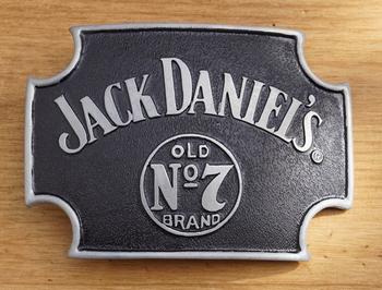 """Jack Daniels buckle  """" Old no 7 brands """"  Schwarz"""