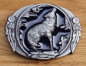 """Gürtelschnalle  """" Wolf """""""
