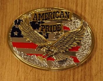 """Belt Buckle """" Fliegender Adler """"   Silber und Gold Farbe"""