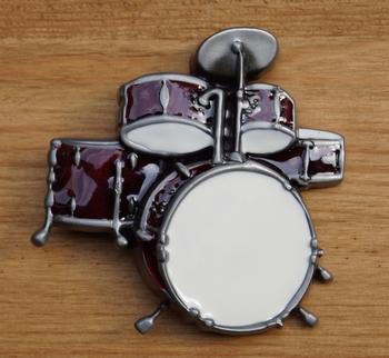 """Gürtelschnalle  """" Schlagzeug  """"  Rot"""