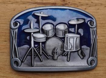 """Lose Schnalle """" Schlagzeug  """"  Blau"""