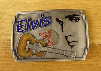 """Gürtelschnalle  """" Elvis King of Rock 'n Roll """""""